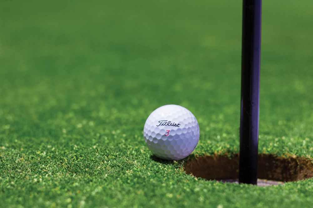 grass green golf golf ball